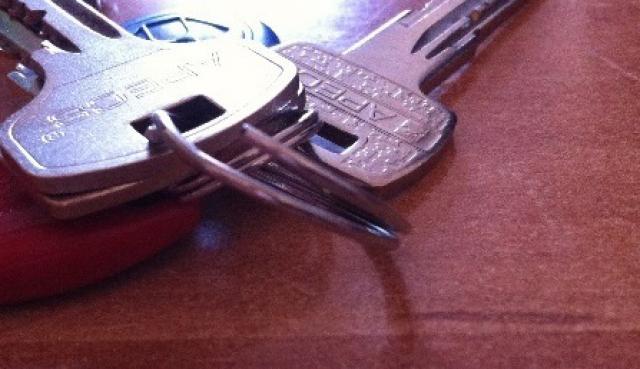Как выглядит разжатое колечко для ключей